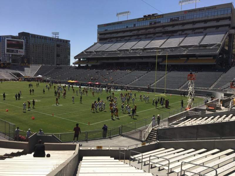 Seating view for Sun Devil Stadium Section 22 Row 25 Seat 10
