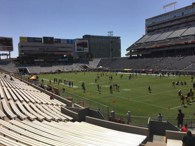 Seating view for Sun Devil Stadium Section 23 Row 25 Seat 9