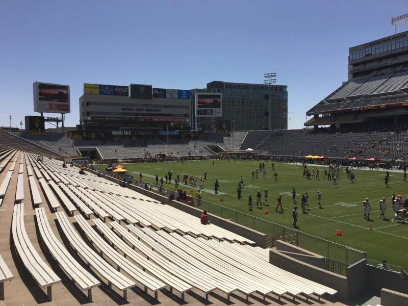 Seating view for Sun Devil Stadium Section 24 Row 25 Seat 12