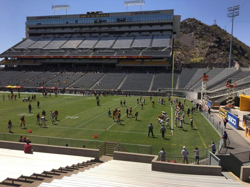 Seating view for Sun Devil Stadium Section 25 Row 25 Seat 12