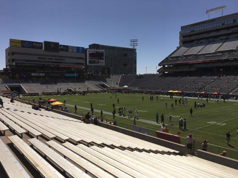 Seating view for Sun Devil Stadium Section 26 Row 25 Seat 12