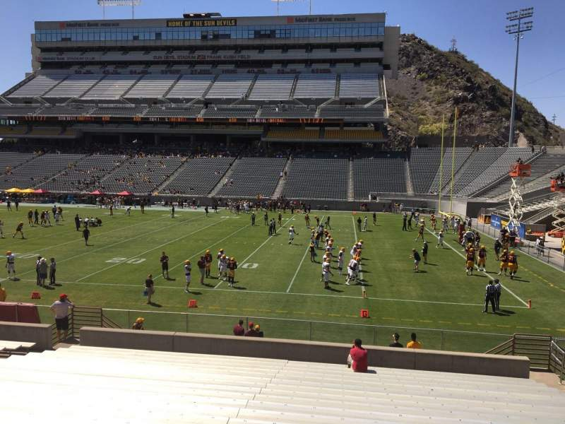 Seating view for Sun Devil Stadium Section 27 Row 25 Seat 12