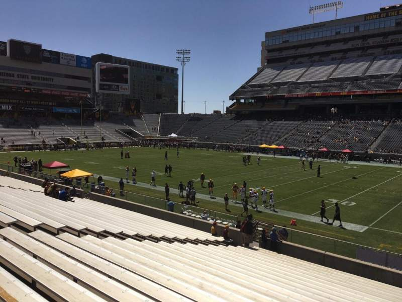 Seating view for Sun Devil Stadium Section 28 Row 25 Seat 12