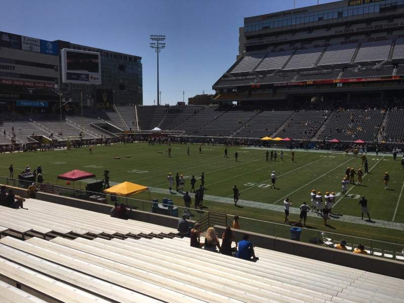Seating view for Sun Devil Stadium Section 29 Row 25 Seat 12