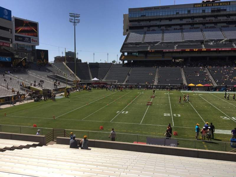 Seating view for Sun Devil Stadium Section 32 Row 25 Seat 12