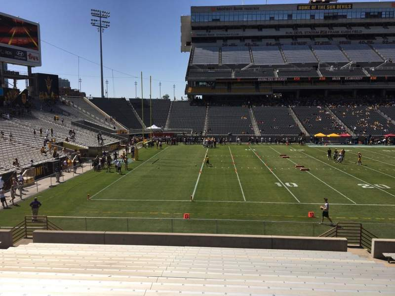 Seating view for Sun Devil Stadium Section 33 Row 25 Seat 12