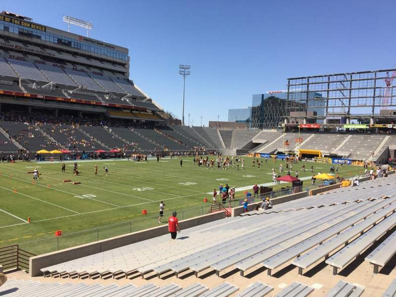 Seating view for Sun Devil Stadium Section 34 Row 25 Seat 12