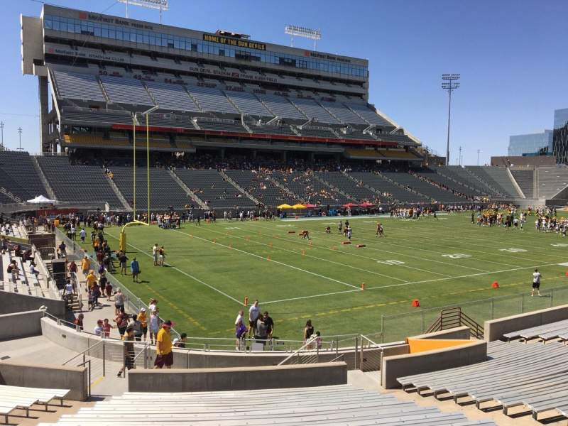 Seating view for Sun Devil Stadium Section 35 Row 25 Seat 12