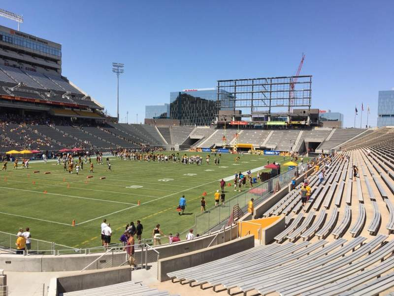 Seating view for Sun Devil Stadium Section 36 Row 25 Seat 9