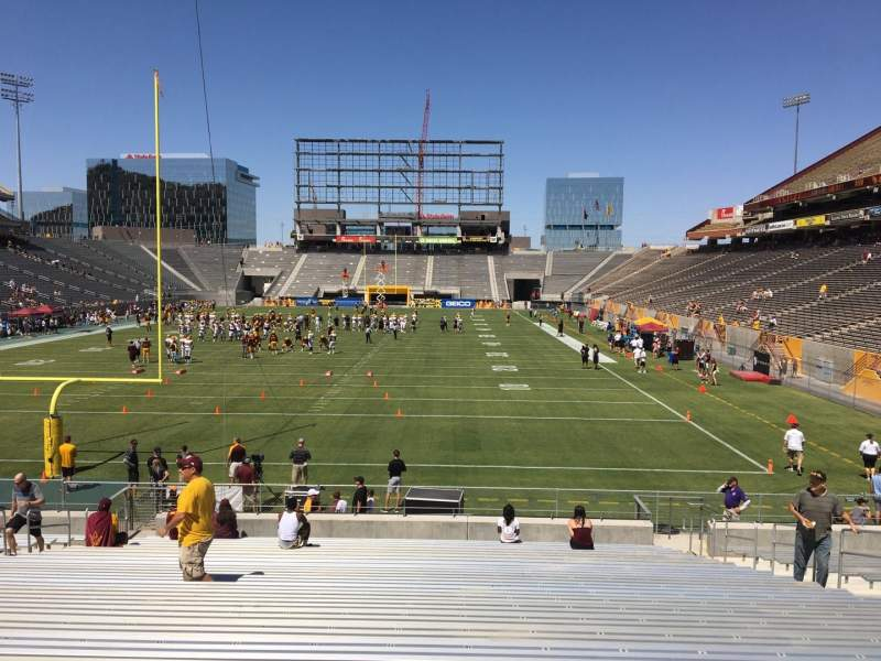 Seating view for Sun Devil Stadium Section 40 Row 25 Seat 12