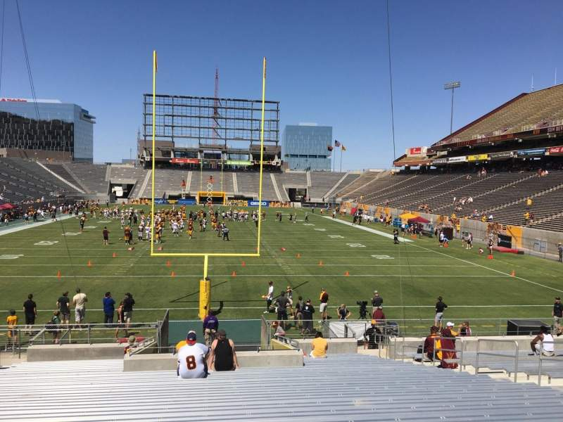 Seating view for Sun Devil Stadium Section 41 Row 25 Seat 12