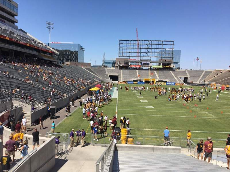 Sun Devil Stadium, section: 43, row: 25, seat: 12