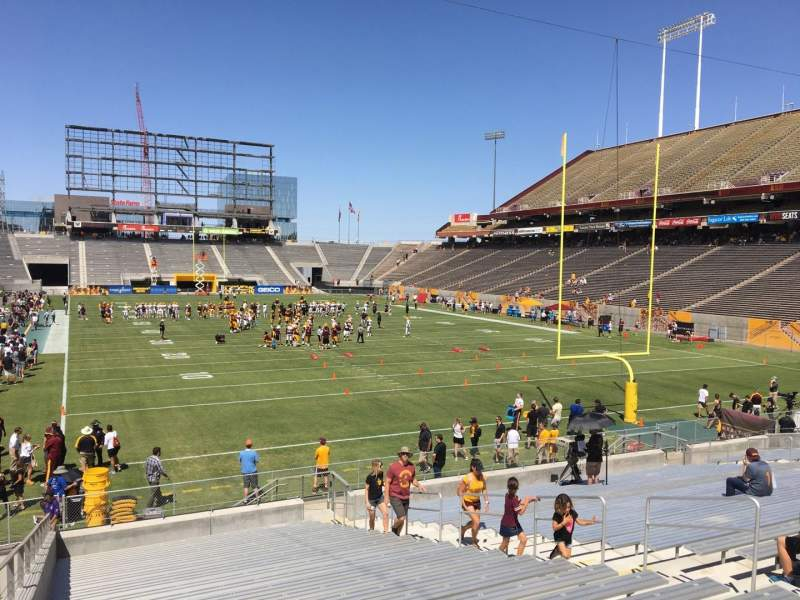 Seating view for Sun Devil Stadium Section 43 Row 25 Seat 12