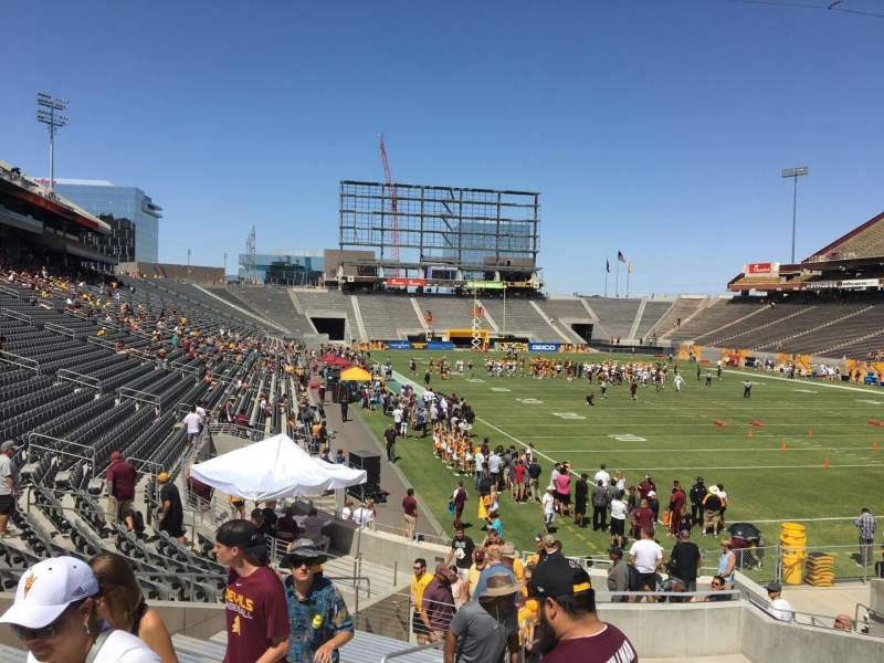 Seating view for Sun Devil Stadium Section 44 Row 25 Seat 12