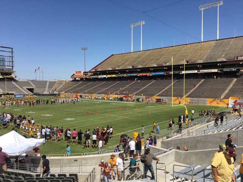 Seating view for Sun Devil Stadium Section 45 Row 25 Seat 9