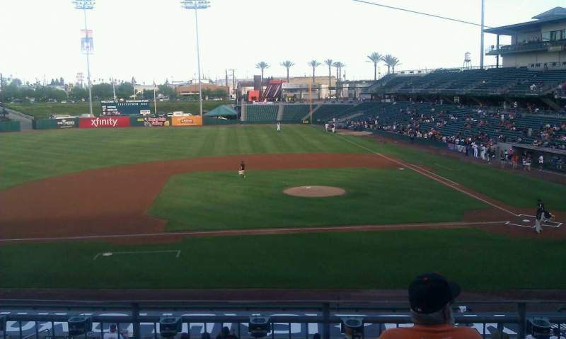 Seating view for Chukchansi Park Section 209 Row 4 Seat 5