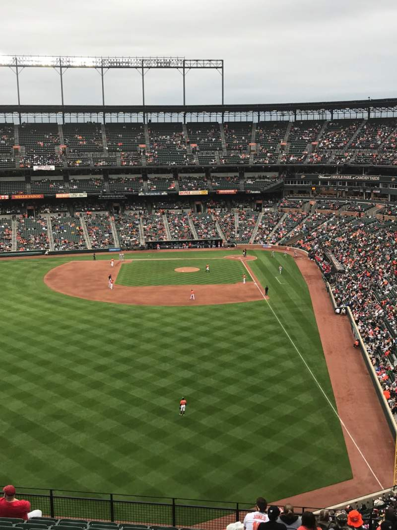 Seating view for Oriole Park at Camden Yards Section 382 Row 13 Seat 5