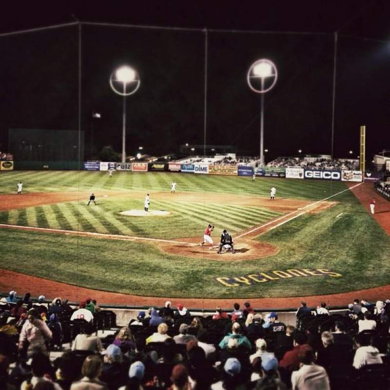 Seating view for MCU Park Section 3