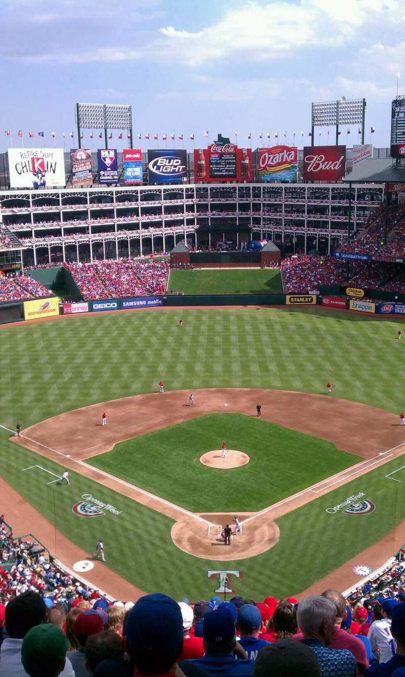 Seating view for Globe Life Park in Arlington Section 327 Row 17 Seat 11