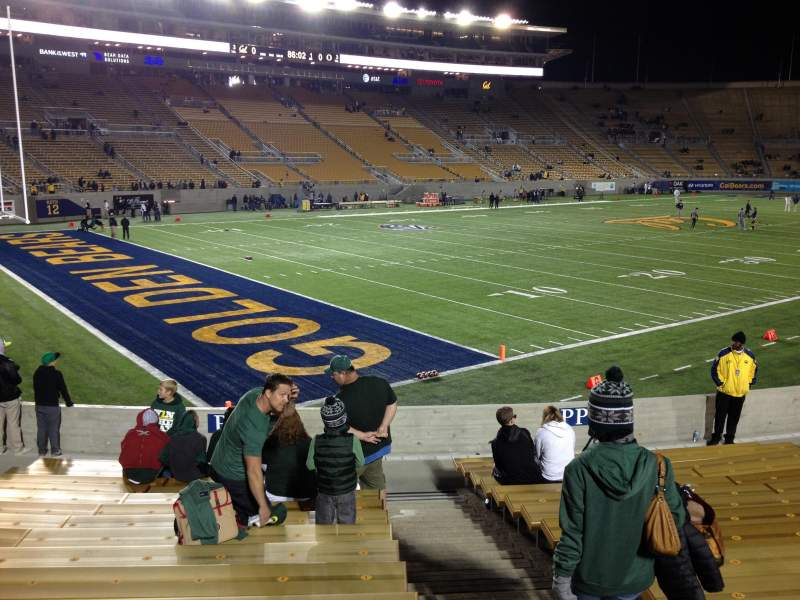 Seating view for California Memorial Stadium Section P Row 17 Seat 1,2