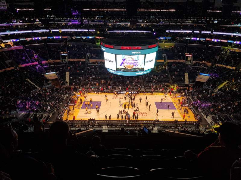 Seating view for Staples Center Section 318 Row 11 Seat 20