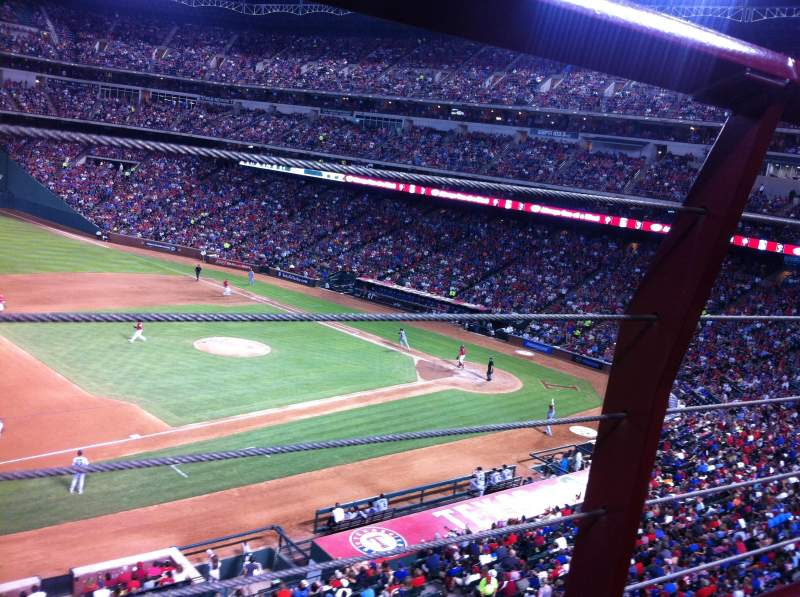 Seating view for Globe Life Park in Arlington Section 217 Row 1 Seat 1