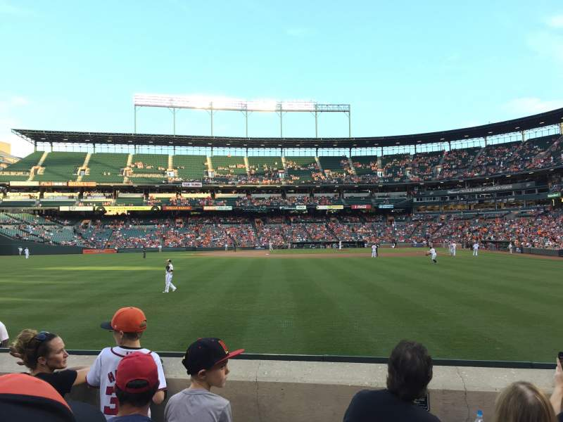 Seating view for Oriole Park at Camden Yards Section 80 Row 4 Seat 12