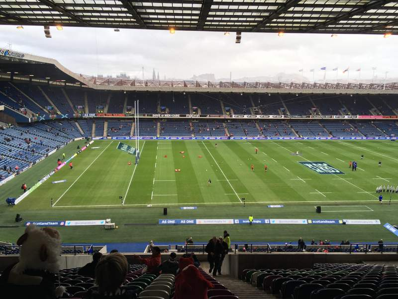 Seating view for Murrayfield Stadium Section W32 Row LL Seat 10