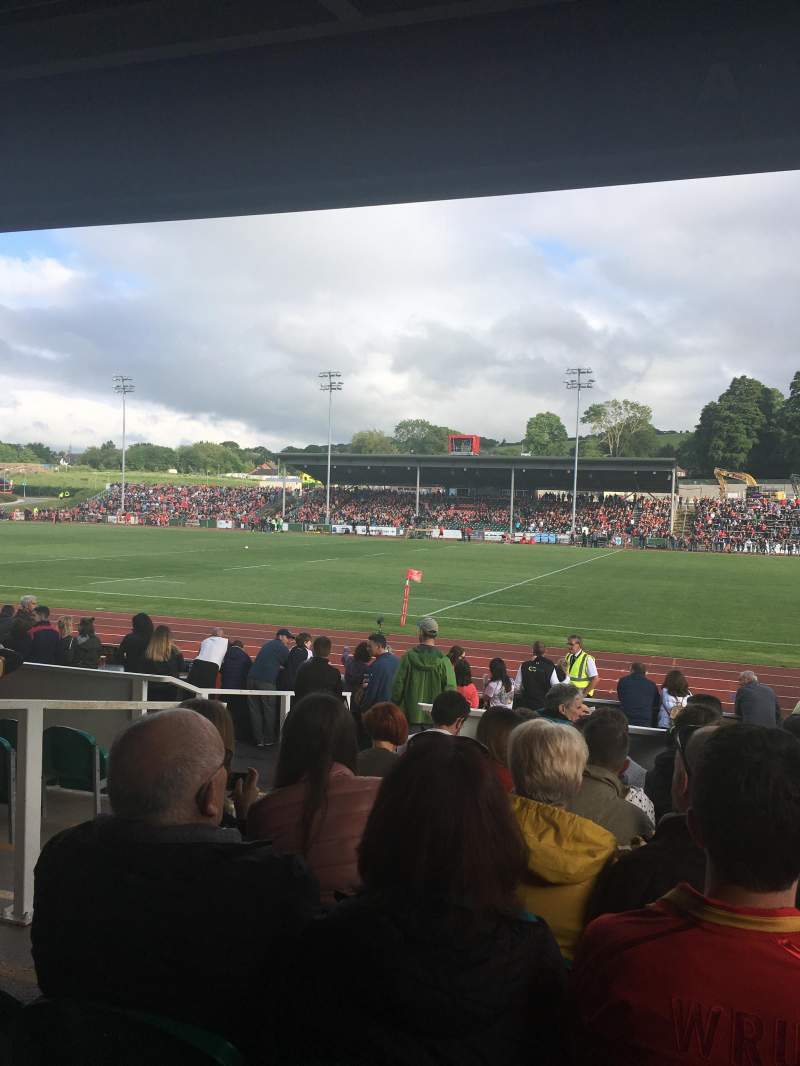 Seating view for Zip World Stadium Section North stand Row C Seat 6