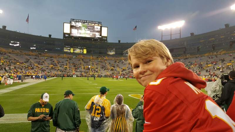 Seating view for Lambeau Field Section 136 Row 1 Seat 10