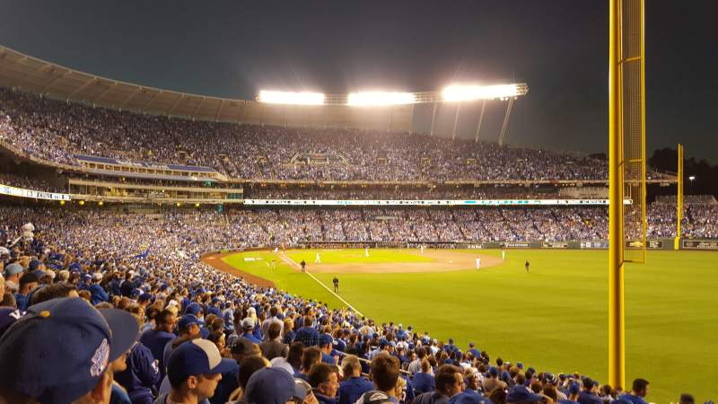 Seating view for Kauffman Stadium Section 247 Row GG Seat 26
