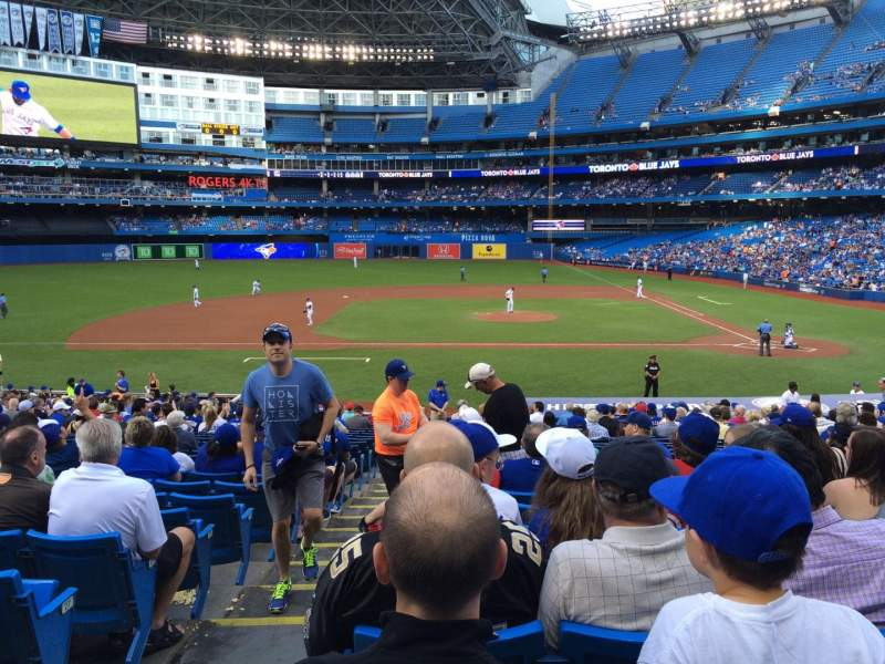Seating view for Rogers Centre Section 126R Row 31 Seat 1