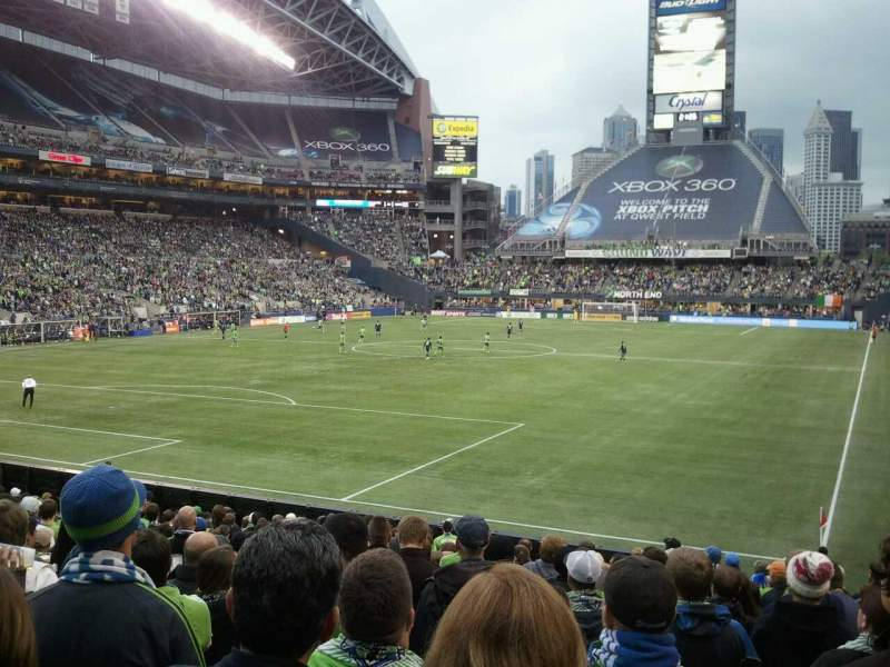 Seating view for CenturyLink Field Section 118 Row V Seat 12