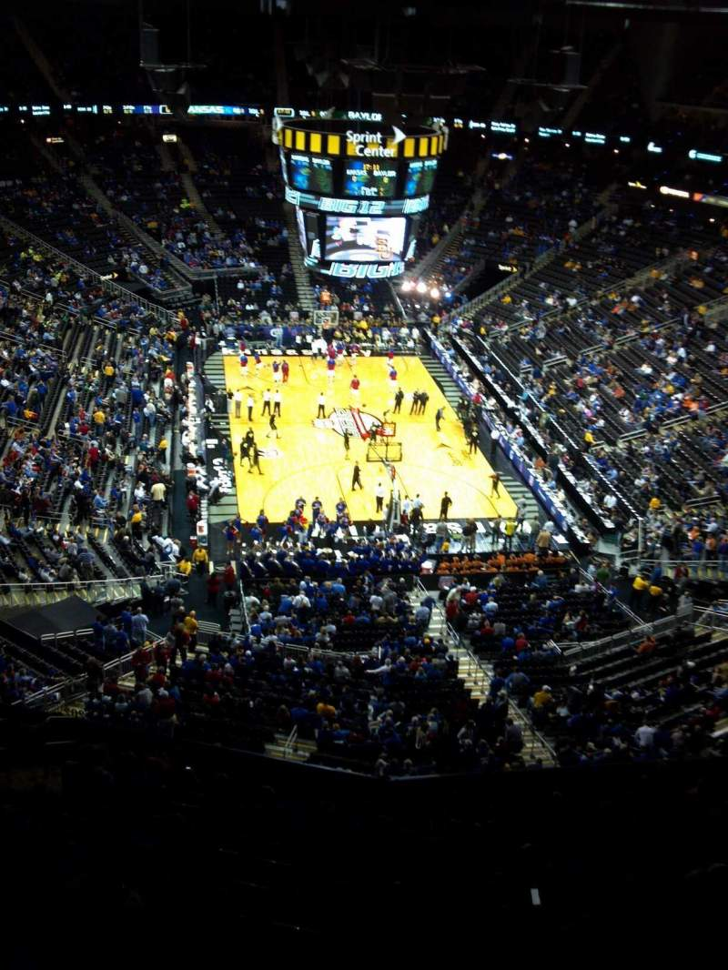 Seating view for Sprint Center Section 201 Row 13 Seat 15