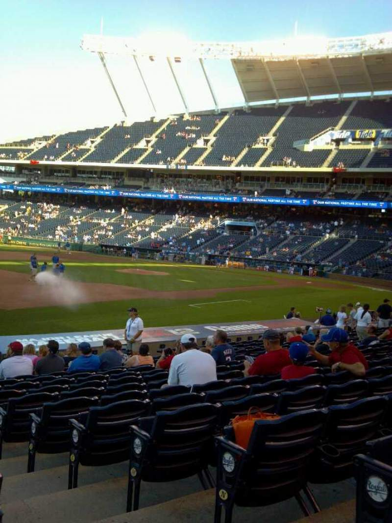 Seating view for Kauffman Stadium Section 115 Row S Seat 10