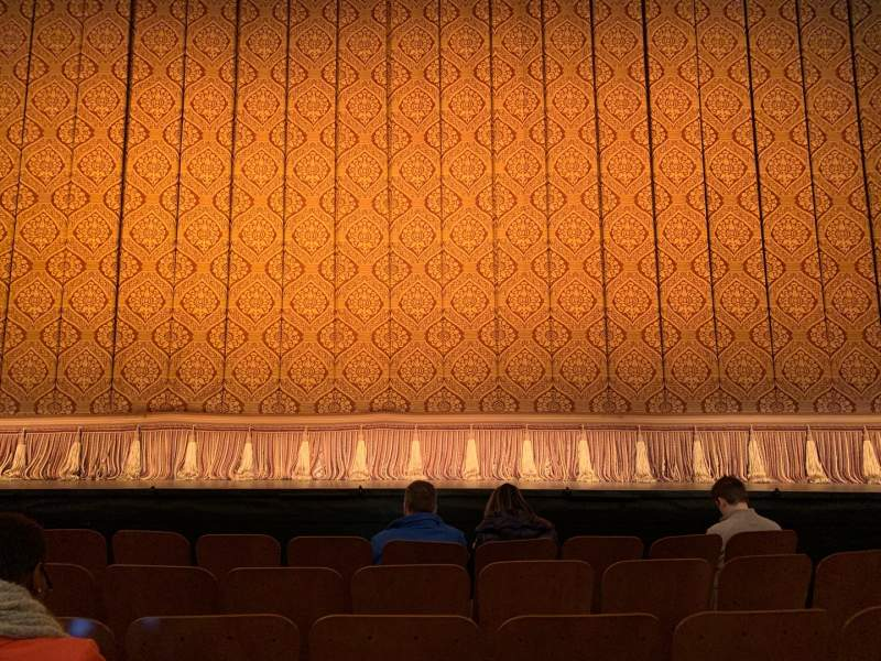 Seating view for Booth Theatre Section CENTER ORCHESTRA Row D Seat 109