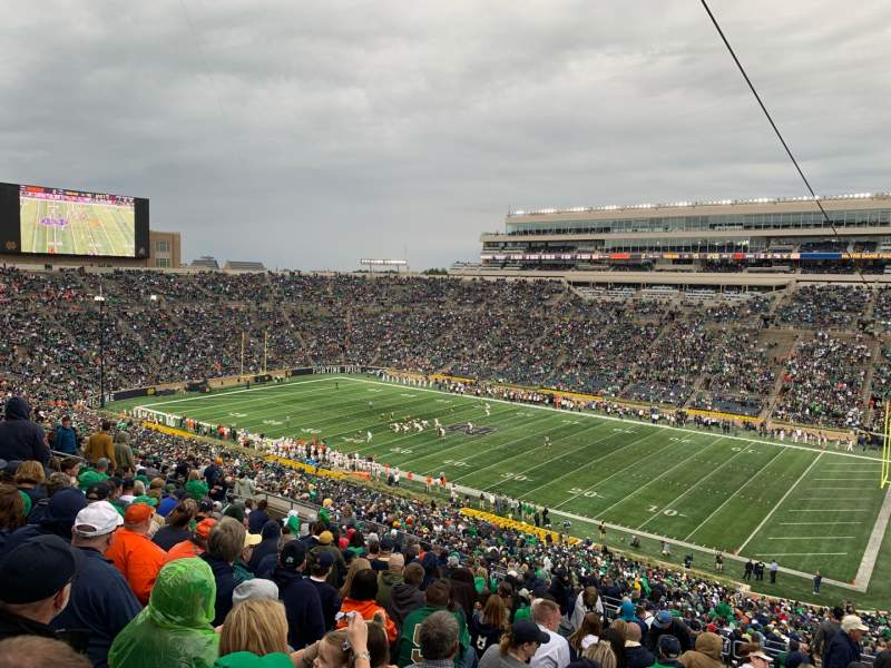 Seating view for Notre Dame Stadium Section 107 Row 25 Seat 9