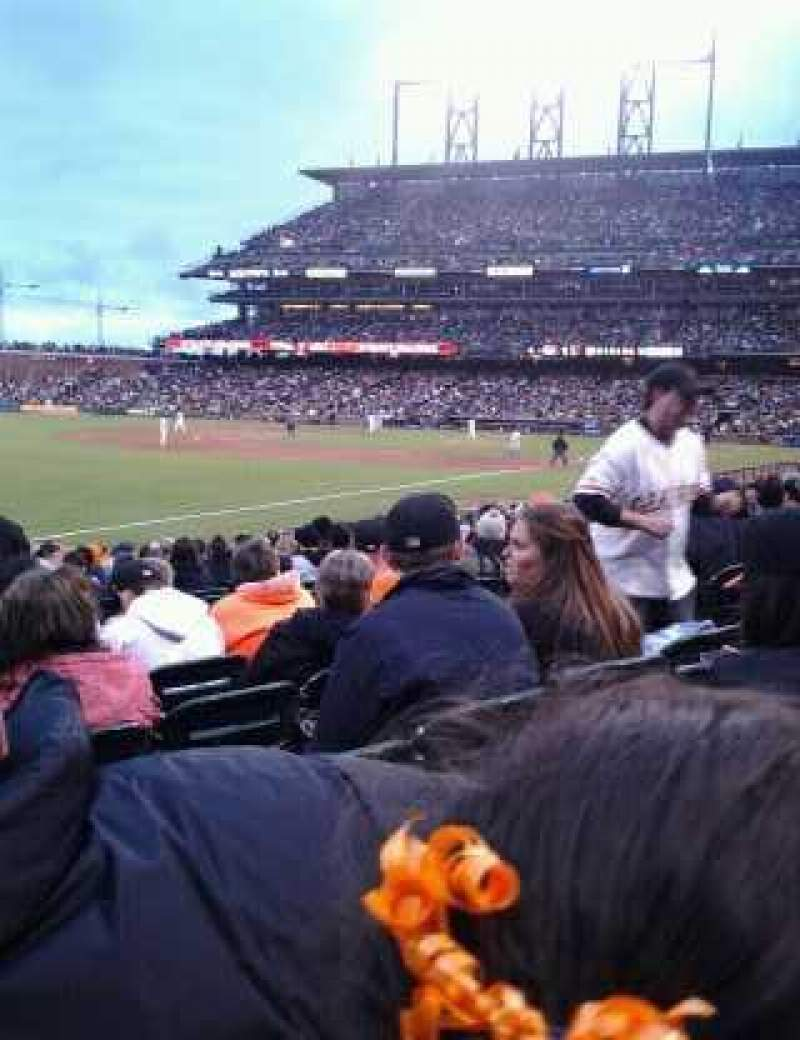 Seating view for AT&T Park Section 130 Row 16 Seat 5