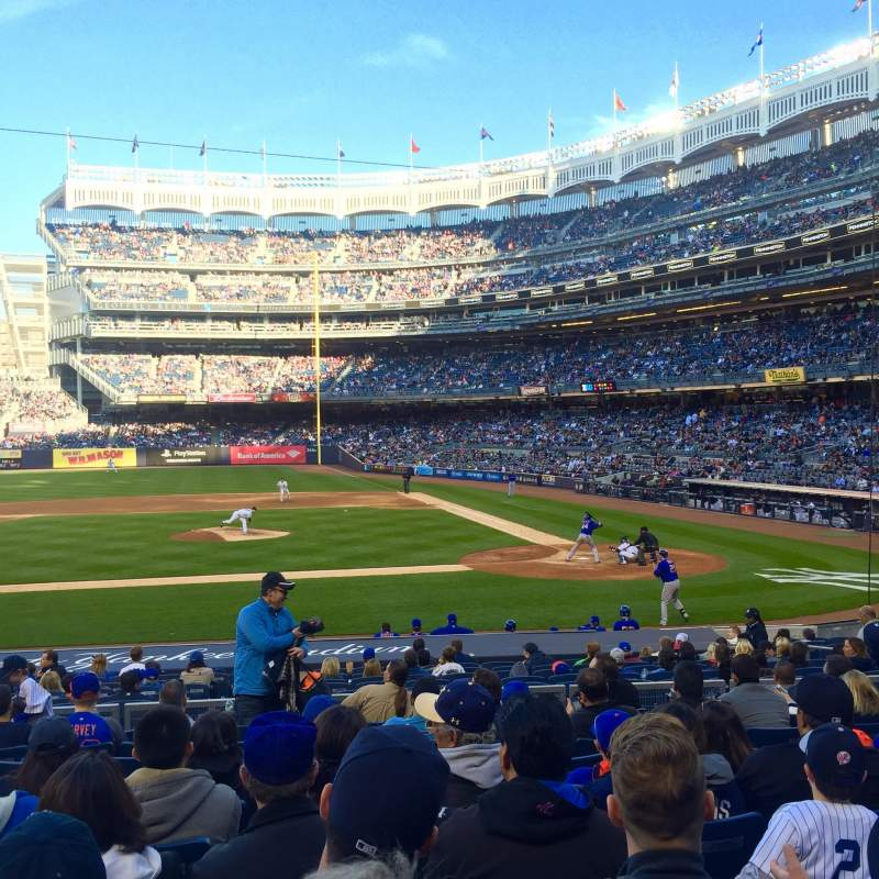 Seating view for Yankee Stadium Section 123 Row 21 Seat 7