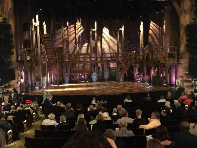 Seating view for Richard Rodgers Theatre Section Orchestra Center Row N Seat 111
