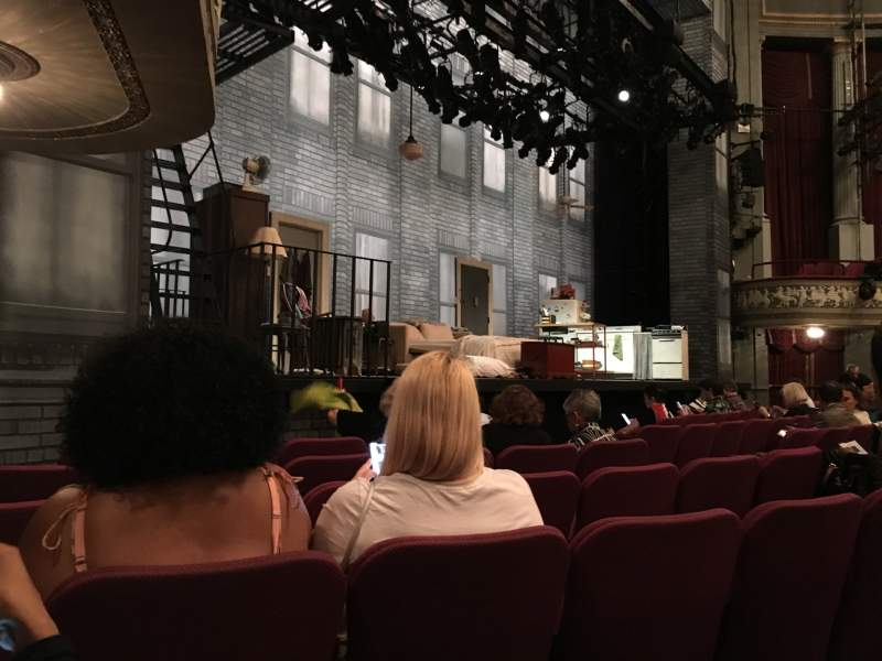 Seating view for Broadhurst Theatre Section Orchestra L Row F Seat 17