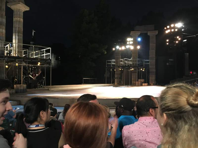 Seating view for The Delacorte Theater in Central Park Section D Row F Seat 309