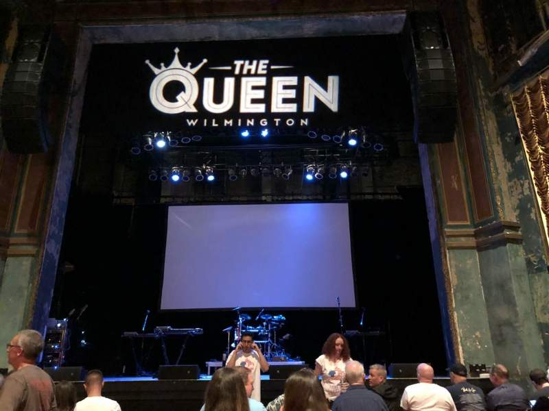 Seating view for The Queen Section GA Floor Row Last Row in Front of t Seat Center Aisle