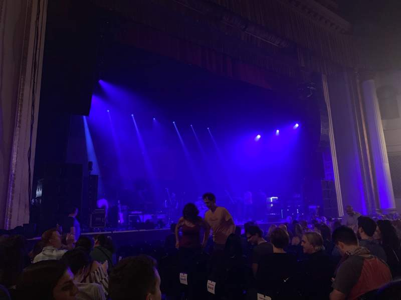 Seating view for Tower Theater Section Left Orchestra Row JJ Seat 8