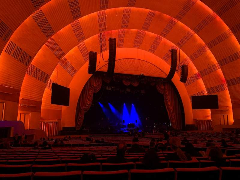 Seating view for Radio City Music Hall Section Orchestra 6 Row M Seat 612