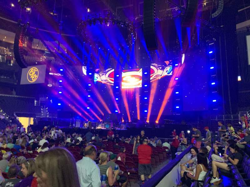 Seating view for Wells Fargo Center Section 113 Row 2 Seat 14