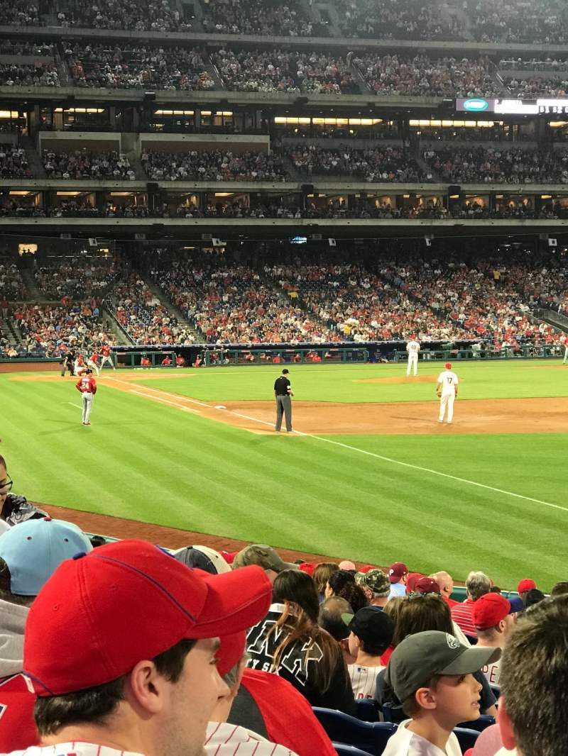 Seating view for Citizens Bank Park Section 109 Row 19 Seat 12