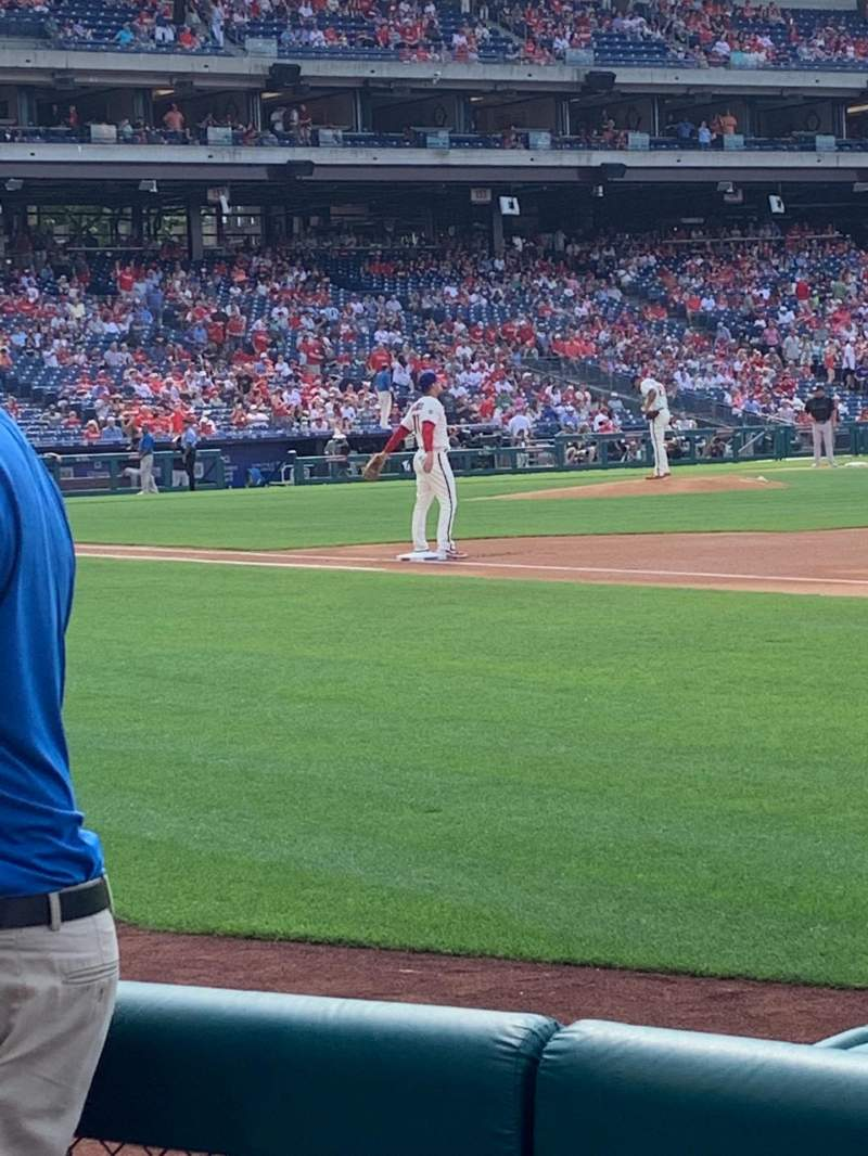 Seating view for Citizens Bank Park Section 112 Row 4 Seat 14