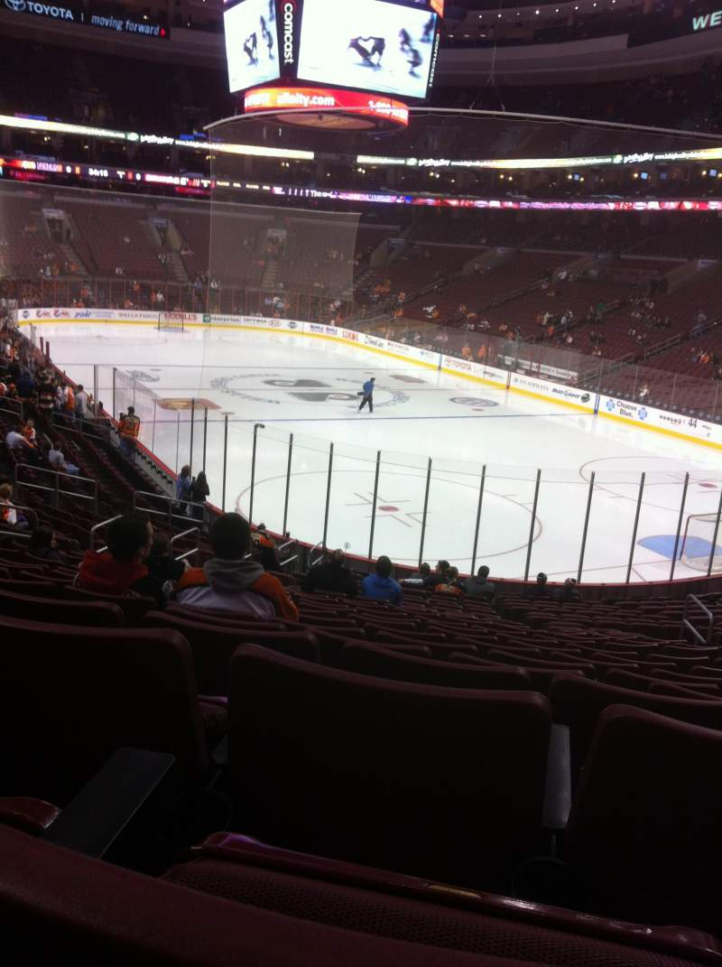 Seating view for Wells Fargo Center Section 105 Row 12 Seat 9