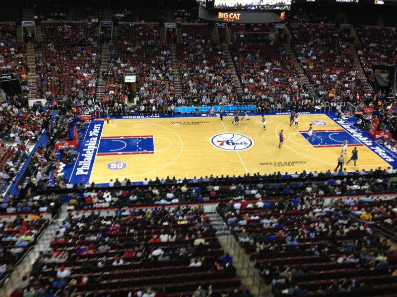 Seating view for Wells Fargo Center Section 214 Row 1 Seat 14